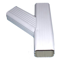 Ryan Seamless Gutter Ywh Left 2 Quot X3 Quot White Aluminum